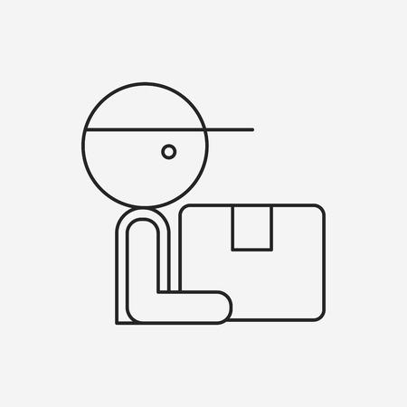 deliveryman: Deliveryman line icon