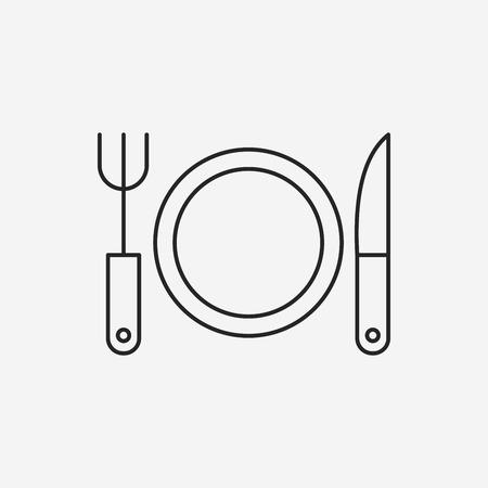 tableware: tableware line icon Illustration