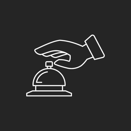 hotel bell: hotel bell icon