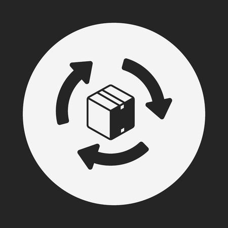 logistics freight icon Vektorové ilustrace