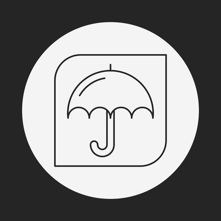 keep up: Keep dry line icon