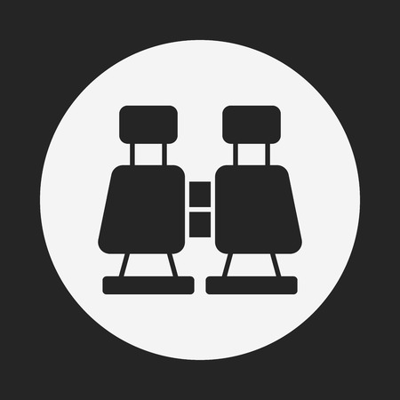 binoculars view: Binoculars icon Illustration