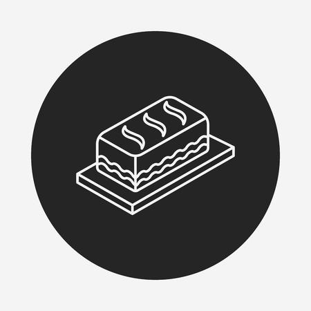 buttercream: dolce icona linea torta