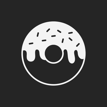 donut: donut icon Illustration
