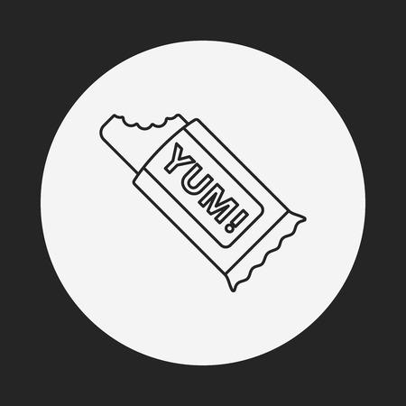 postre: postre icono de l�nea de galletas Vectores