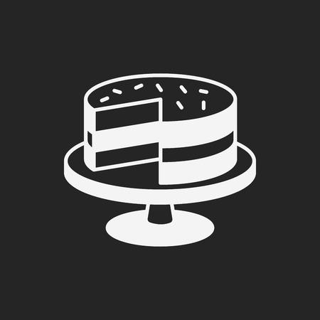 postre: icono de pastel de postre