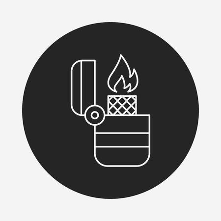 butane: Lighter line icon