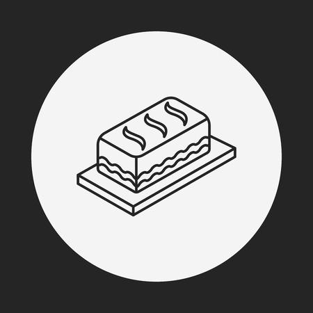 postre: postre icono de l�nea de la torta Vectores