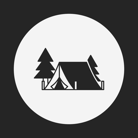 weekend activities: camping tent icon