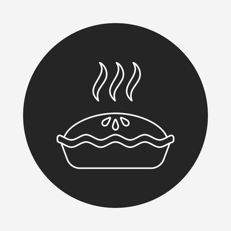 blueberry pie: pie line icon