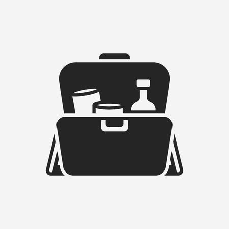 erste hilfe koffer: Verbandskasten Symbol