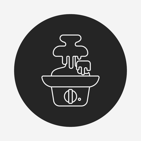 caterer: chocolate fountain line icon