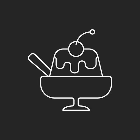 pudding: pudding jelly line icon