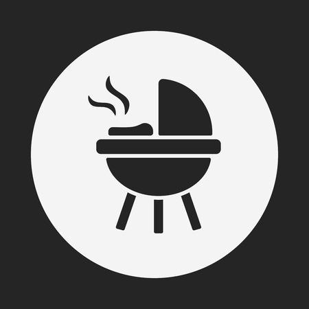 barbecue stove: BBQ oven icon Illustration