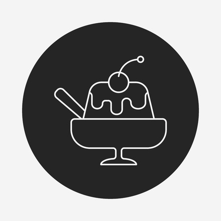 gelatin: pudding jelly line icon