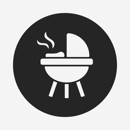 barbecue stove: BBQ oven icon Illustration