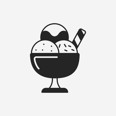 postre: postre helado icono