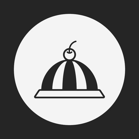 gelatina: icono de la jalea pud�n
