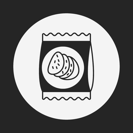 postre: icono de la galleta postre Vectores