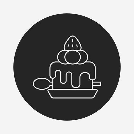 buttercream: dessert cake line icon
