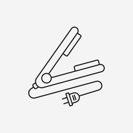 hairstylist: Hair curlers line icon