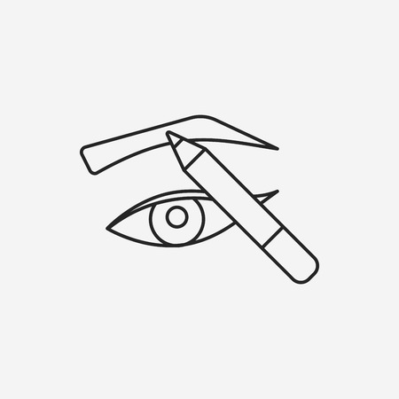 eyebrows: Painted eyebrows line icon