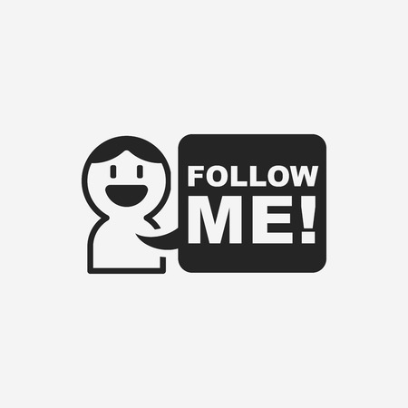 follow: follow me icon