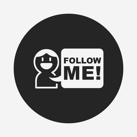 follow: follow me icon
