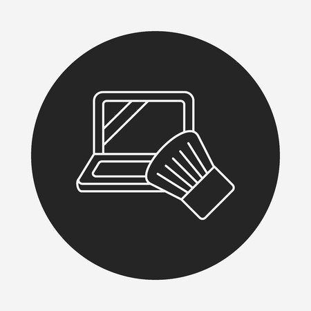 makeup powder: makeup powder line icon
