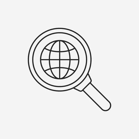 Icono mundial línea de internet Foto de archivo - 42024985