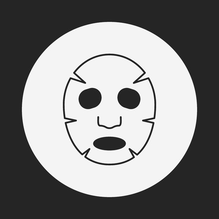 Facial mask icon Vectores