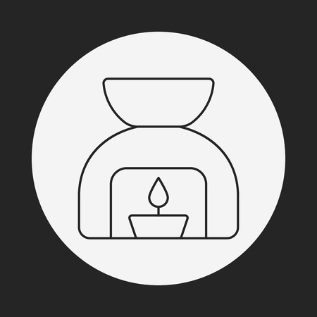 essential: Essential Oil line icon