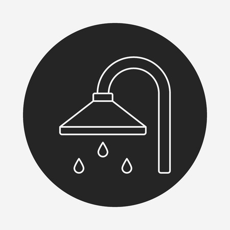 showering: Shower heads line icon
