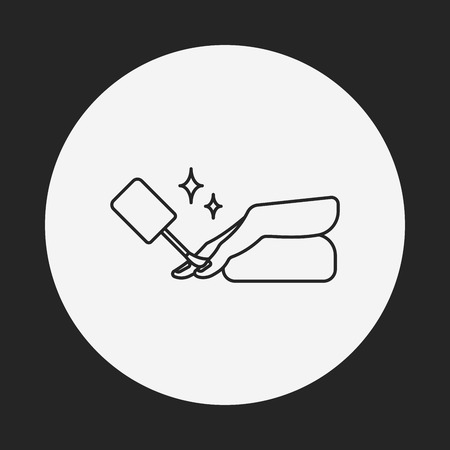 manicure pink: Nail polish line icon