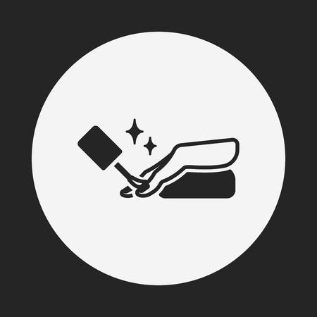manicure pink: Nail polish icon