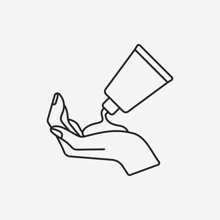 cosmetic bottles line icon Illustration