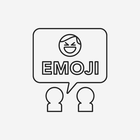 smily: emoji line icon Illustration