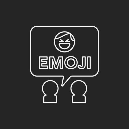 smily face: emoji line icon Illustration
