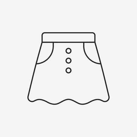 skirts: skirts line icon