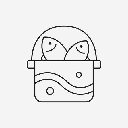 fishing box line icon