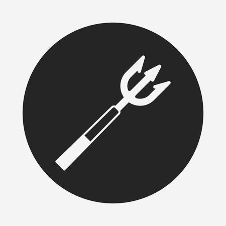 spear: Fish spear icon Illustration