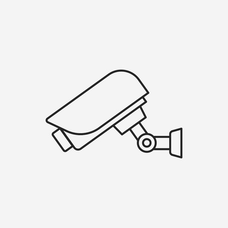 private viewing: surveillance line icon