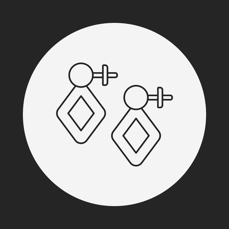 earring: earring line icon Illustration