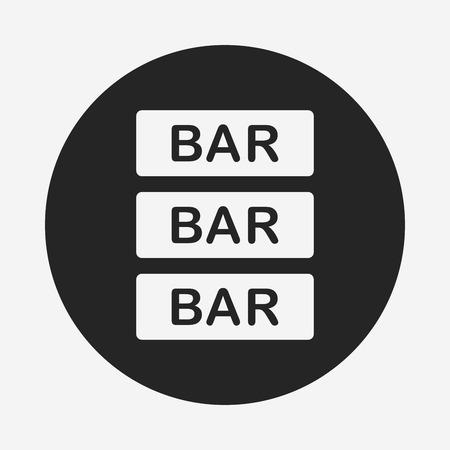 shop sign: Bar shop sign icon