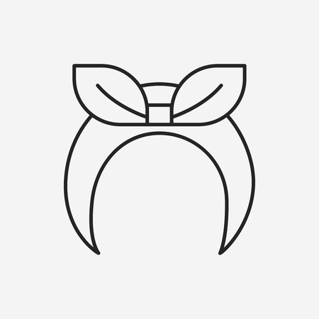 headband: headband line icon Illustration