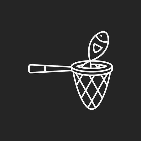 fishnet: fishing net line icon