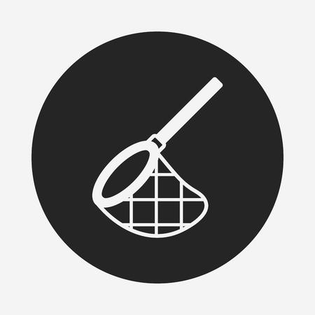 fishing net: fishing net icon Illustration