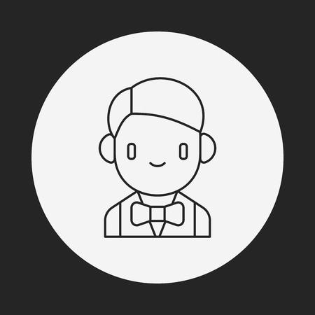 dealer: Casino Dealer line icon