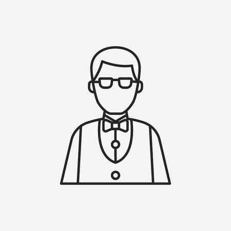 casino dealer: Casino Dealer line icon