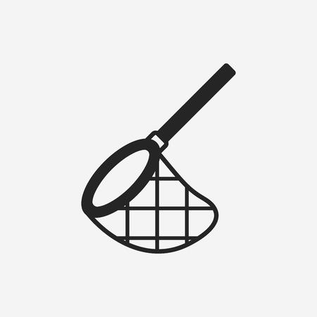 fish fishing: fishing net icon Illustration